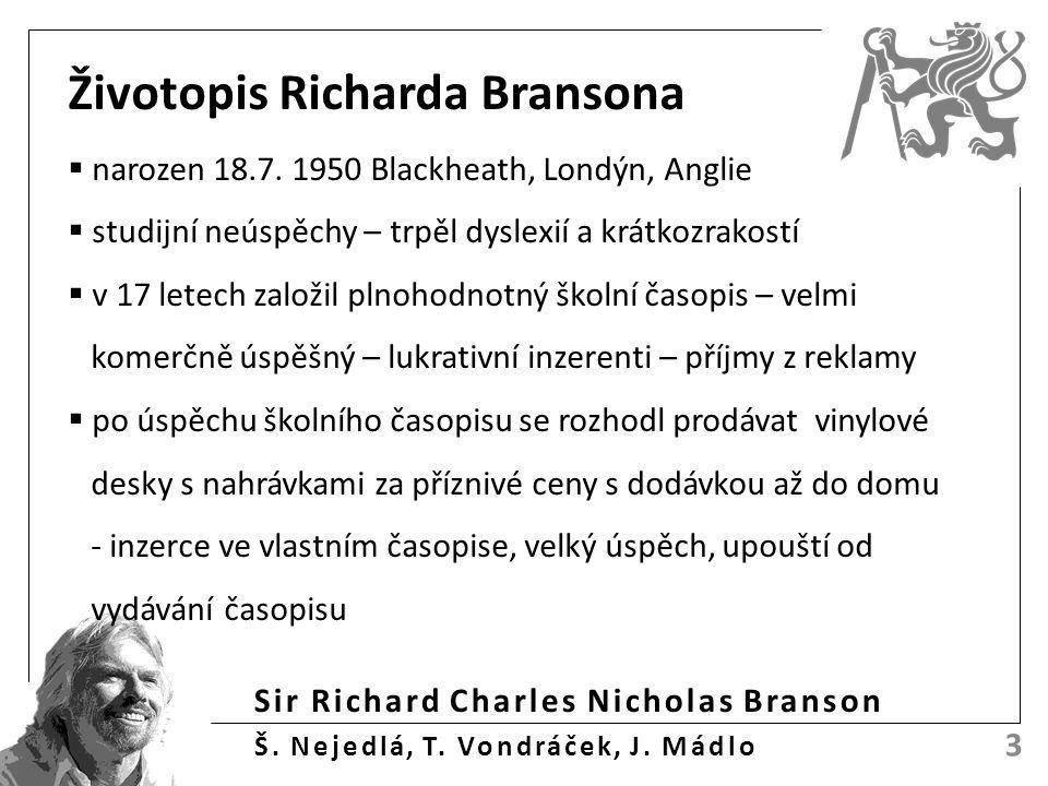Sir Richard Charles Nicholas Branson Š.Nejedlá, T.