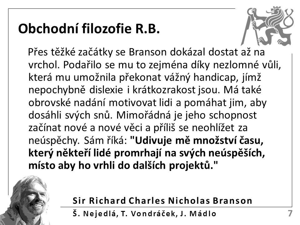 Obchodní filozofie R.B. Přes těžké začátky se Branson dokázal dostat až na vrchol.