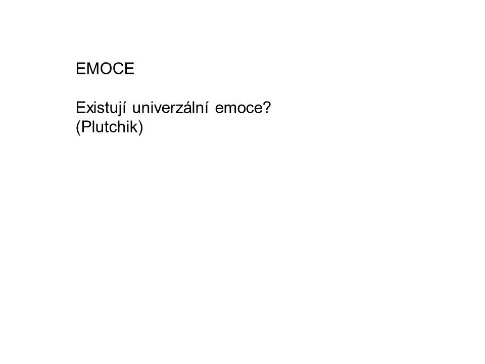 EMOCE Existují univerzální emoce (Plutchik)