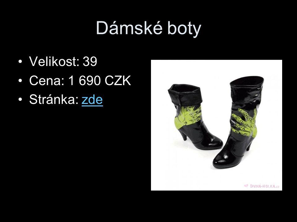 Dámské boty Velikost: 39 Cena: 1 690 CZK Stránka: zdezde