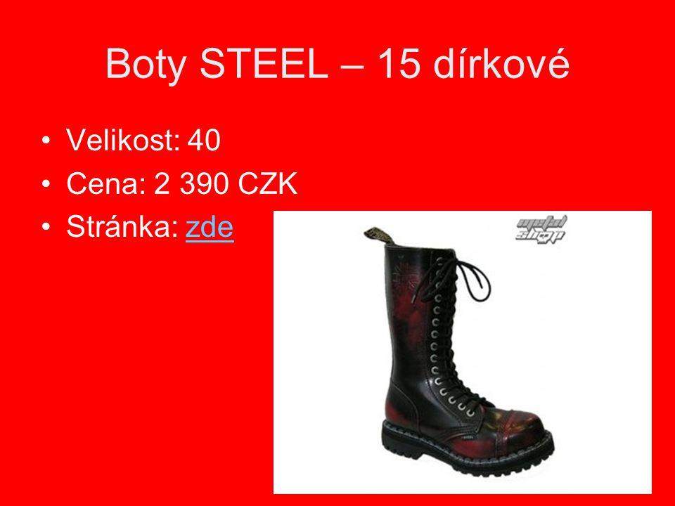 Boty STEEL – 15 dírkové Velikost: 40 Cena: 2 390 CZK Stránka: zdezde