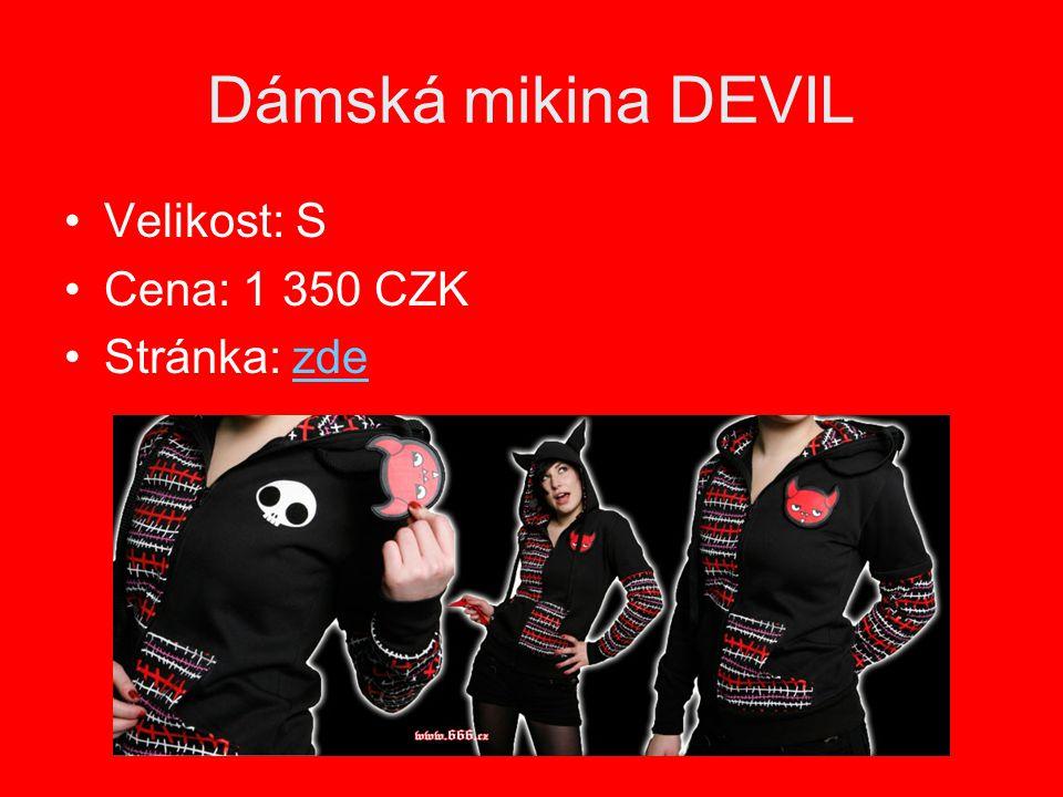 Dámská mikina DEVIL Velikost: S Cena: 1 350 CZK Stránka: zdezde