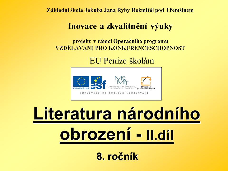 Název: Literatura národního obrození – II.
