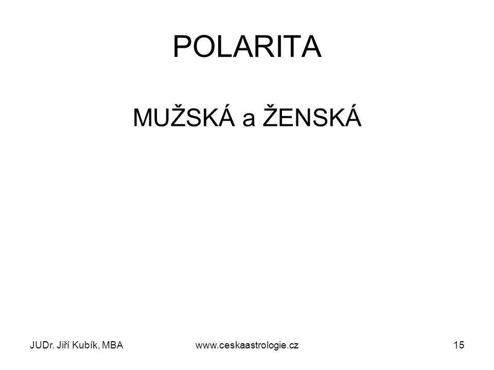 JUDr. Jiří Kubík, MBAwww.ceskaastrologie.cz15 POLARITA MUŽSKÁ a ŽENSKÁ