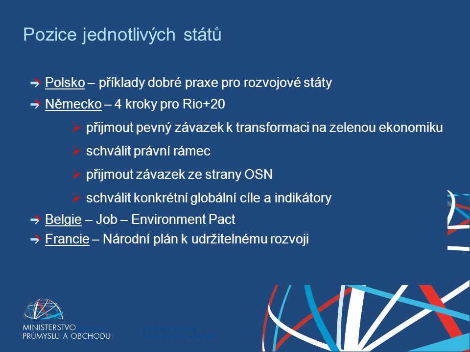 Ing. Martin Kocourek ministr průmyslu a obchodu ZPĚT NA VRCHOL – INSTITUCE, INOVACE A INFRASTRUKTURA Pozice jednotlivých států Polsko – příklady dobré
