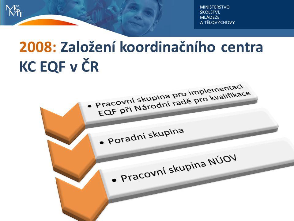 2008: Založení koordinačního centra KC EQF v ČR