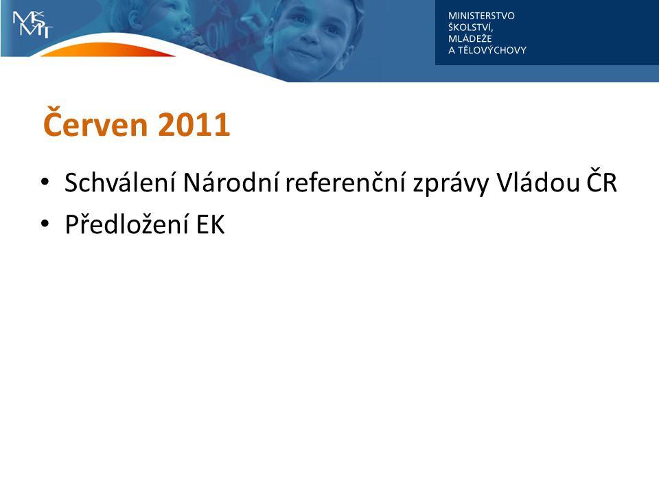 Červen 2011 Schválení Národní referenční zprávy Vládou ČR Předložení EK