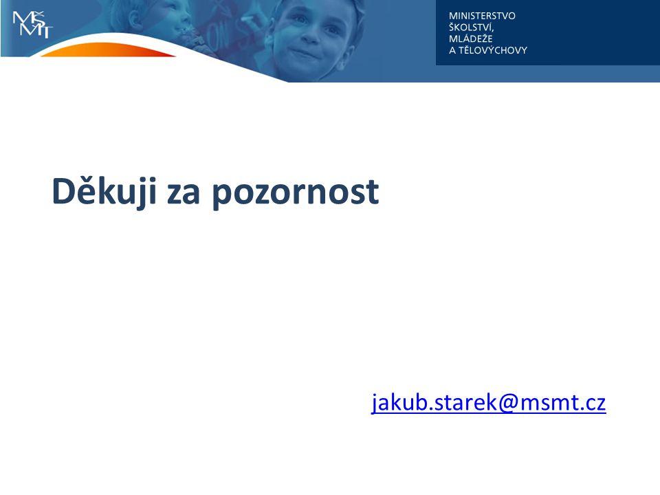 Děkuji za pozornost jakub.starek@msmt.cz