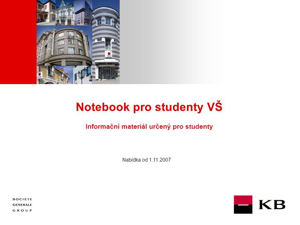 JJ Mois Année Notebook pro studenty VŠ Informační materiál určený pro studenty Nabídka od 1.11.2007