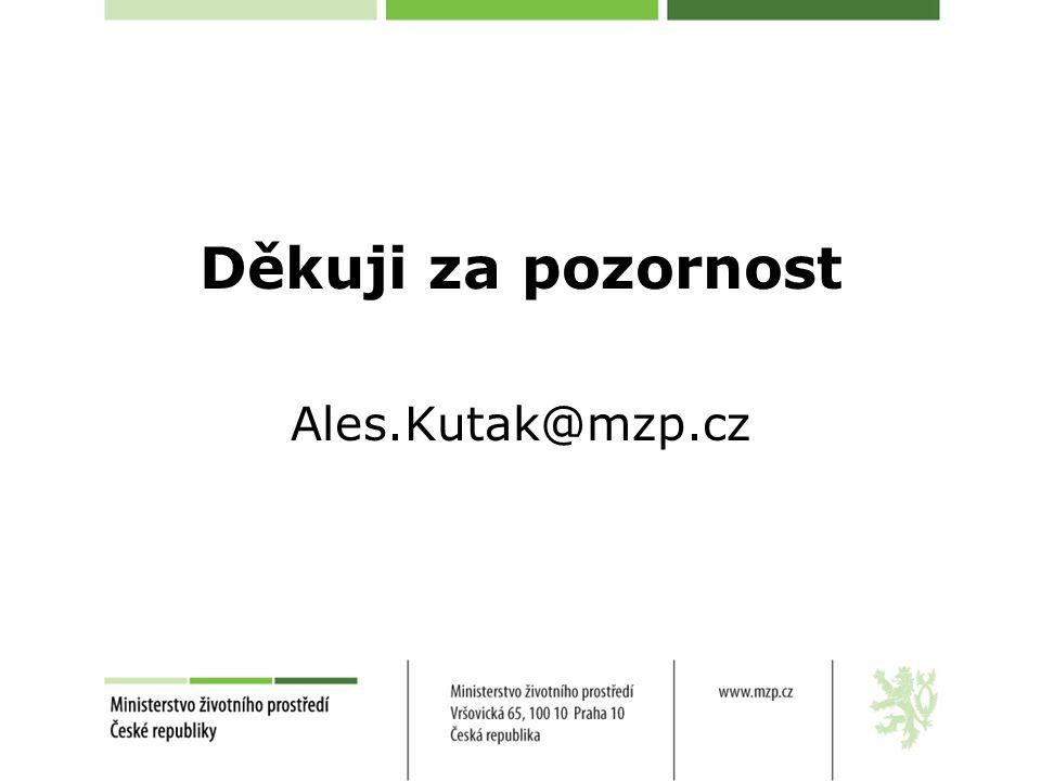 Děkuji za pozornost Ales.Kutak@mzp.cz