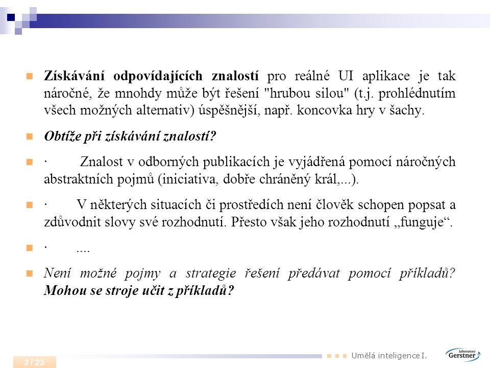 Umělá inteligence I. 14 / 23