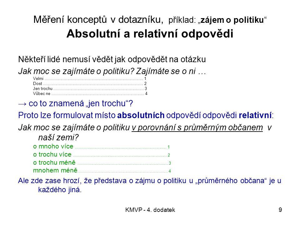KMVP - 4.dodatek10 2. Pomocí nepřímého měření (otázek) → koncept pomocí postulátu.