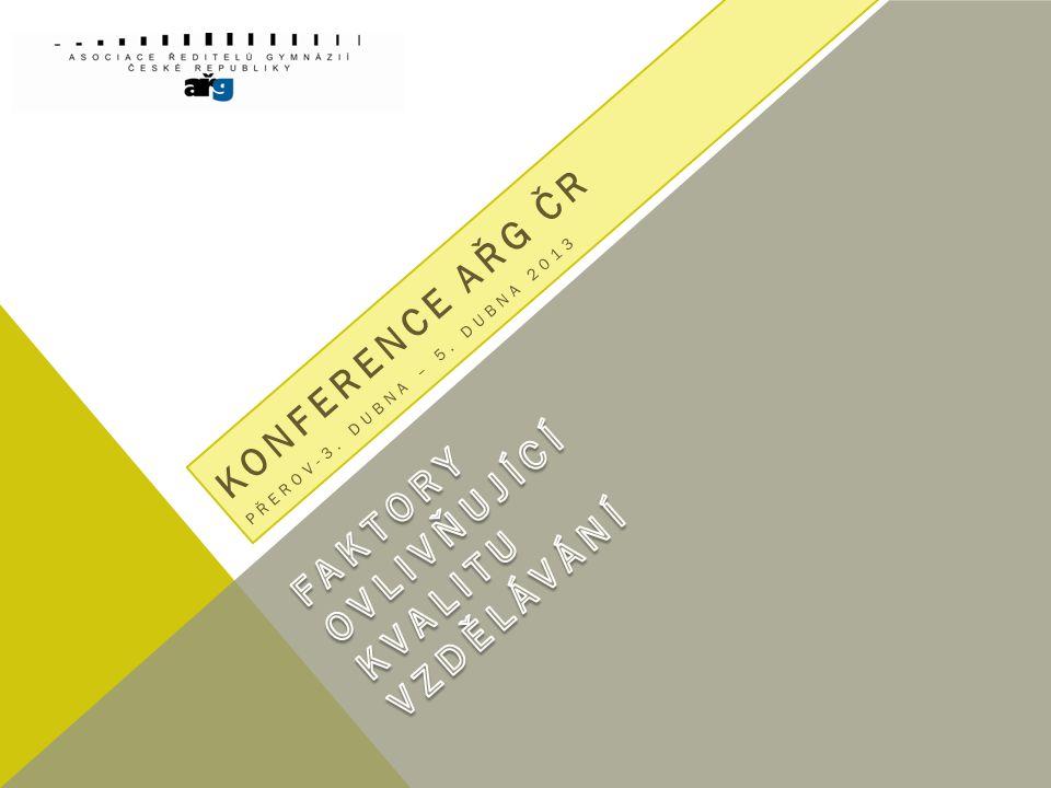 KONFERENCE AŘG ČR PŘEROV-3. DUBNA – 5. DUBNA 2013