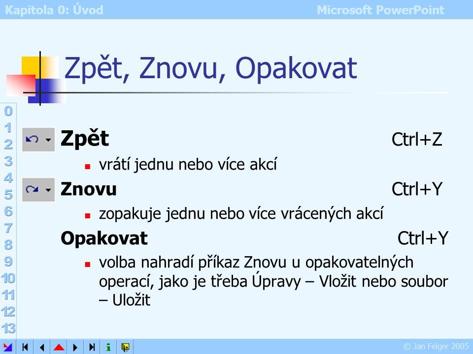 Kapitola 0: Úvod Microsoft PowerPoint © Jan Felger 2005 Obrázek