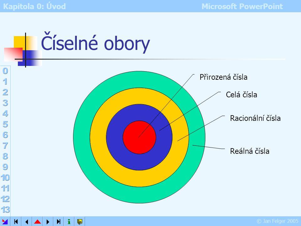Kapitola 0: Úvod Microsoft PowerPoint © Jan Felger 2005 Práce s cestou efektu Zelená šipka počáteční bod pohybu efektu Červená šipka koncový bod pohyb