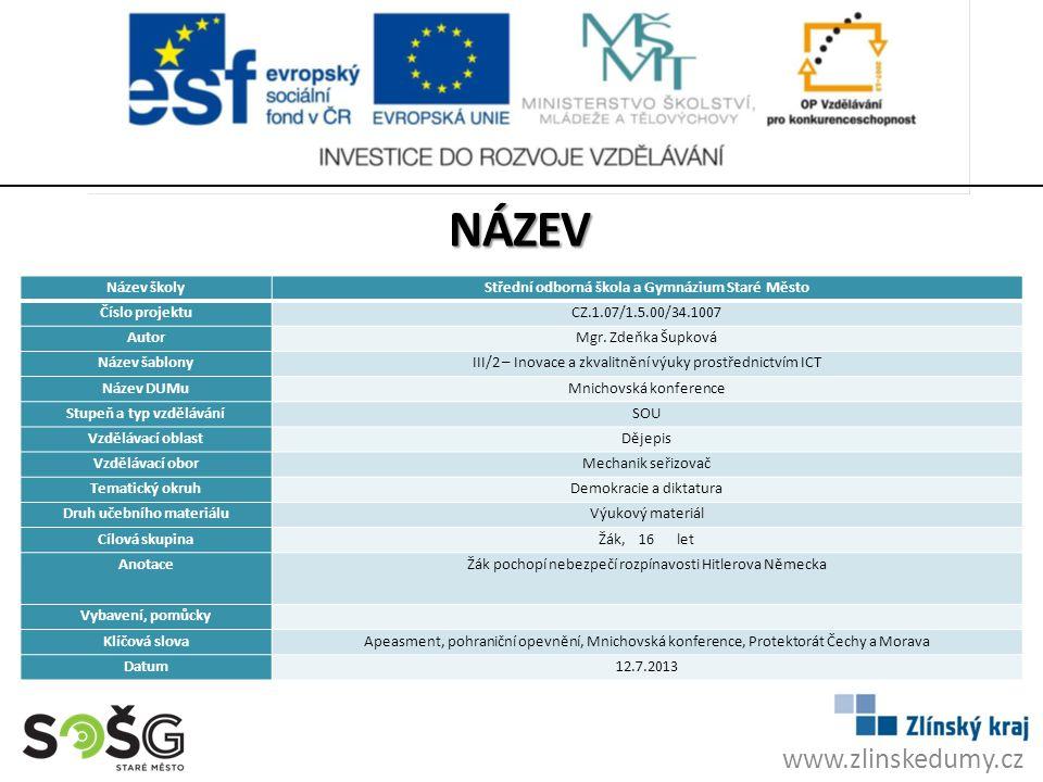 NÁZEV Mnichovská konference