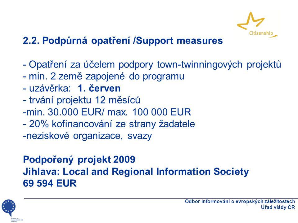 Odbor informování o evropských záležitostech Úřad vlády ČR 2.2.