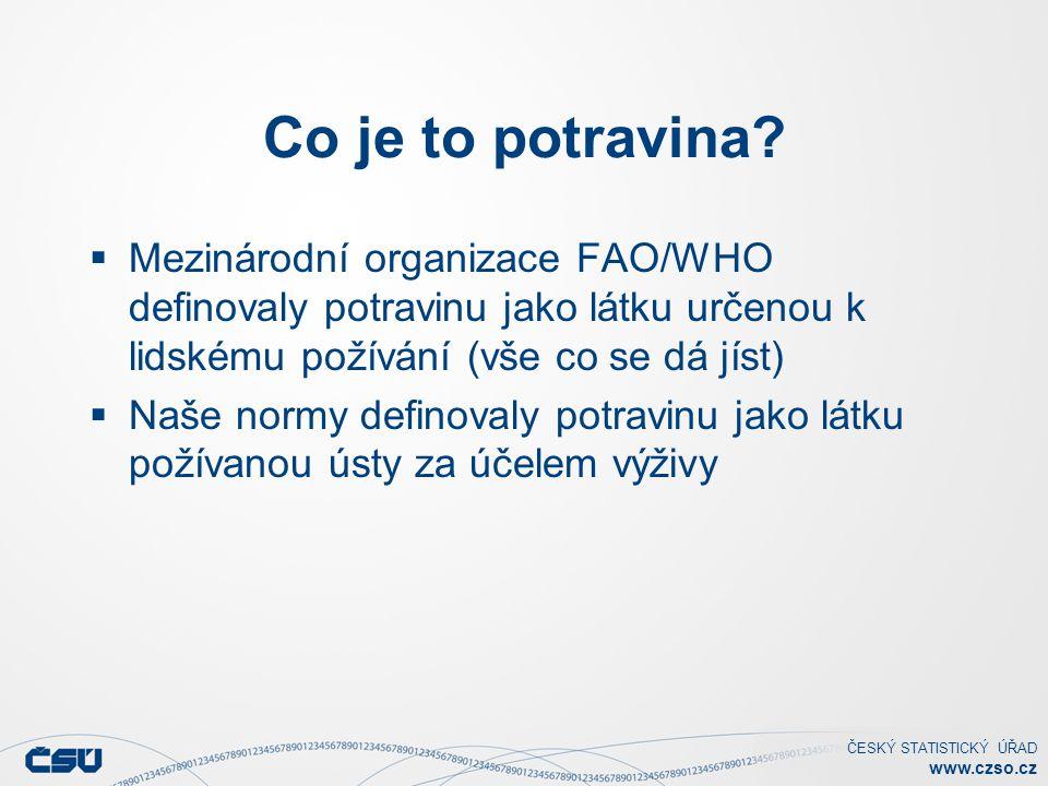 ČESKÝ STATISTICKÝ ÚŘAD www.czso.cz Co je to potravina.