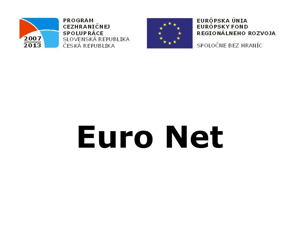 Projekt Euro Net OP PCS SK-CZ 2007 – 2013 je spolufinancován z prostředků Evropského fondu pro regionální rozvoj (ERDF)