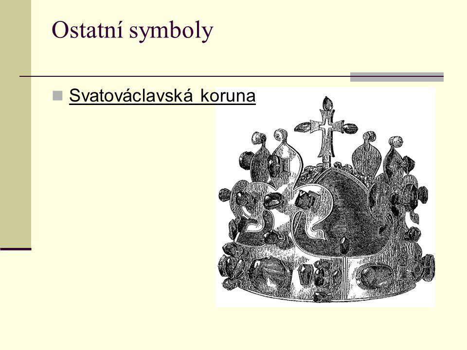 Ostatní symboly Svatováclavská koruna