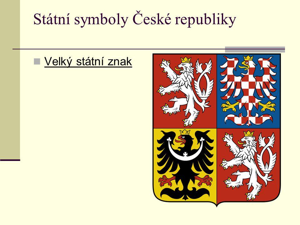 Státní symboly České republiky Velký státní znak
