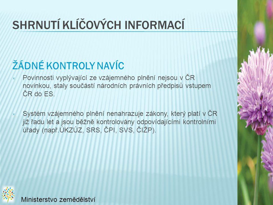 SHRNUTÍ KLÍČOVÝCH INFORMACÍ ŽÁDNÉ KONTROLY NAVÍC × Povinnosti vyplývající ze vzájemného plnění nejsou v ČR novinkou, staly součástí národních právních