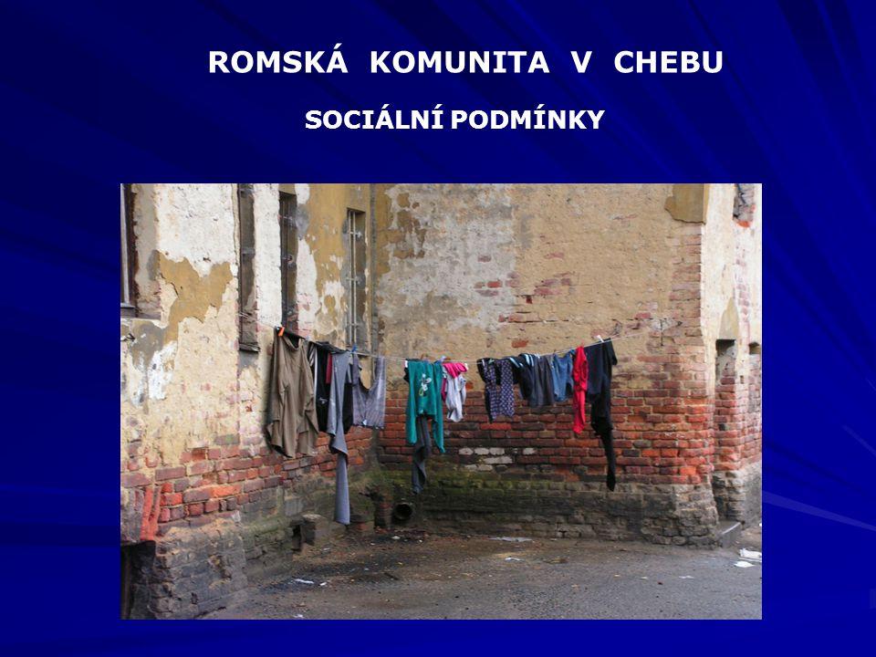 ROMSKÁ KOMUNITA V CHEBU SOCIÁLNÍ PODMÍNKY