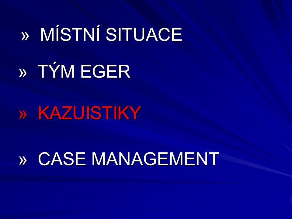 » MÍSTNÍ SITUACE » TÝM EGER » KAZUISTIKY » CASE MANAGEMENT