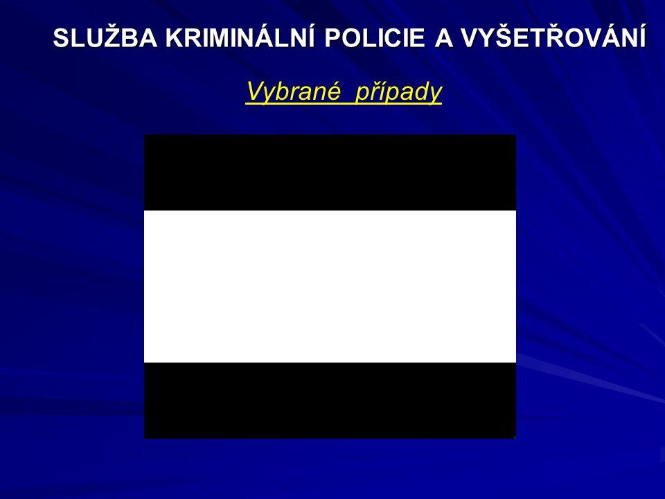 SLUŽBA KRIMINÁLNÍ POLICIE A VYŠETŘOVÁNÍ Vybrané případy