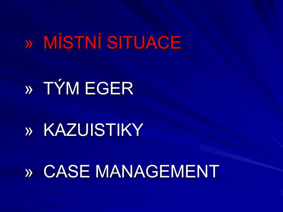 » TÝM EGER » KAZUISTIKY » CASE MANAGEMENT » MÍSTNÍ SITUACE