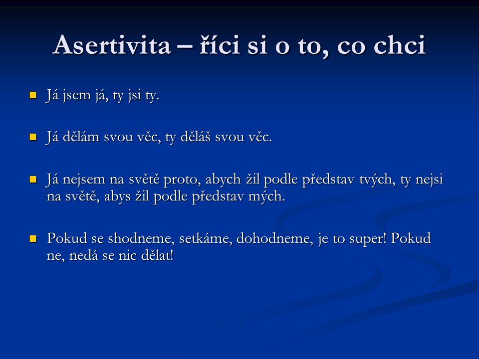 Asertivita – říci si o to, co chci Já jsem já, ty jsi ty.