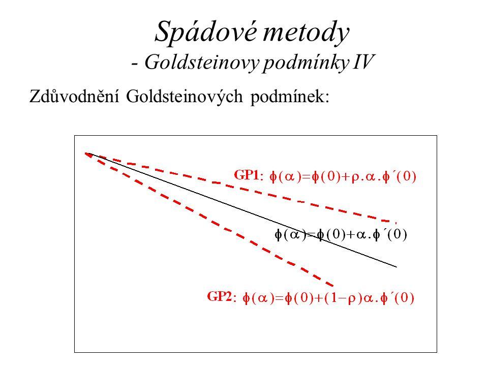 Spádové metody - Goldsteinovy podmínky IV Zdůvodnění Goldsteinových podmínek: