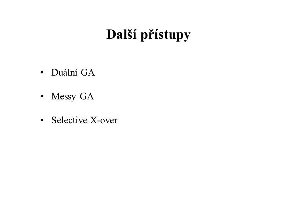 Další přístupy Duální GA Messy GA Selective X-over