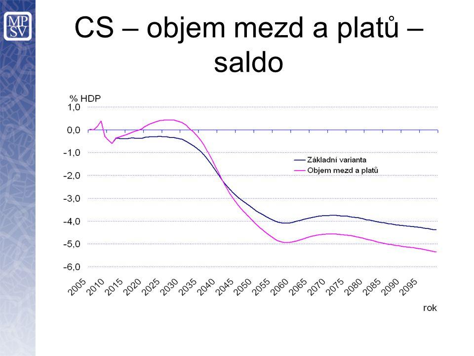 CS – objem mezd a platů – saldo
