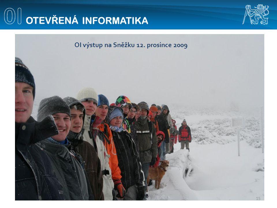 15 OI výstup na Sněžku 12. prosince 2009
