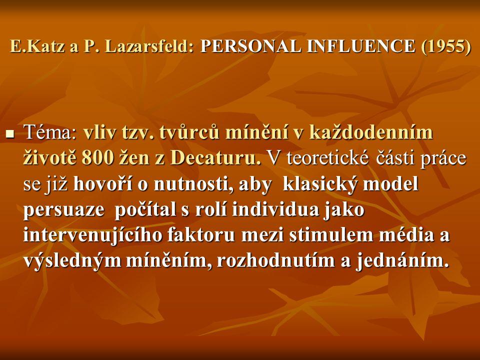 VÝZKUM DECATUR ( E.Katz /P.F.
