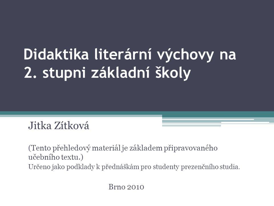 Didaktika literární výchovy na 2.