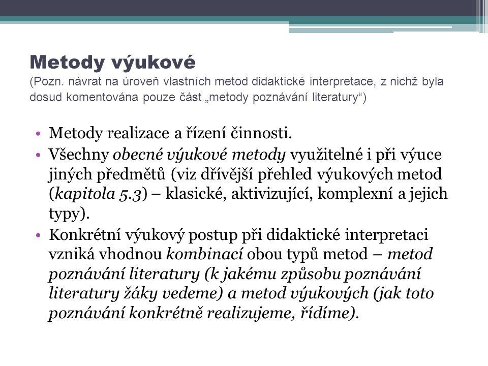 Metody výukové (Pozn.