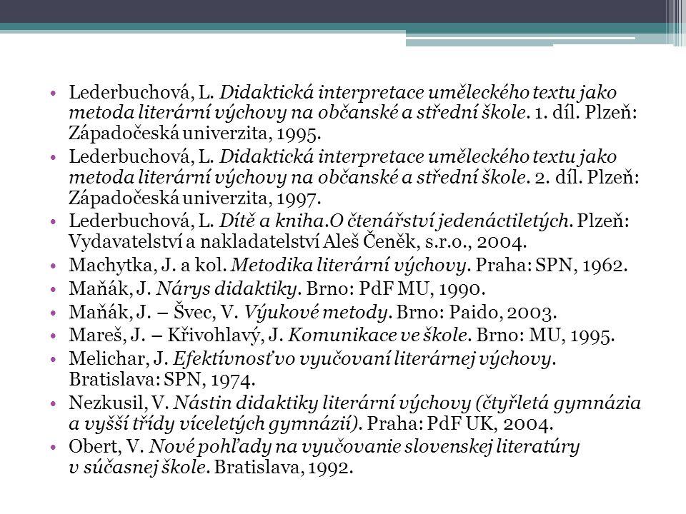 Lederbuchová, L.