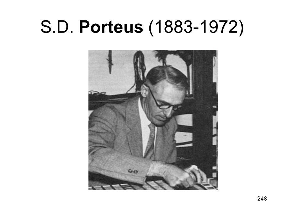 248 S.D. Porteus (1883-1972)