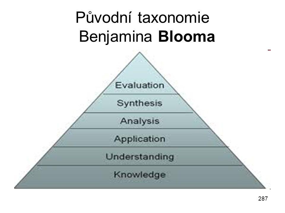 287 Původní taxonomie Benjamina Blooma