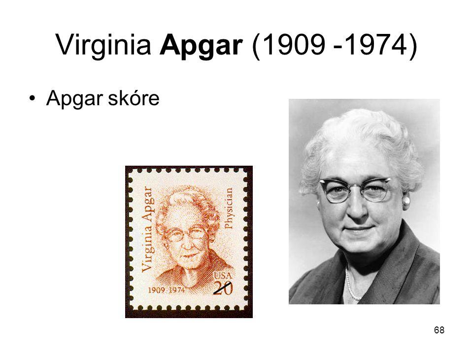 68 Virginia Apgar (1909 -1974) Apgar skóre
