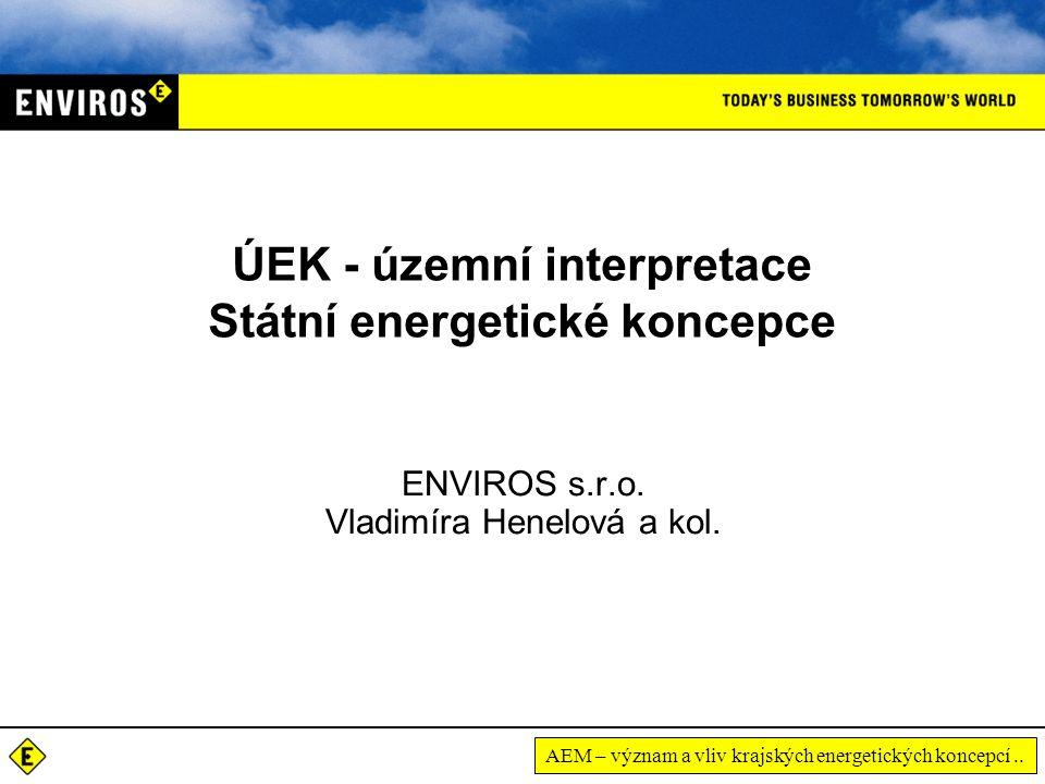 AEM – význam a vliv krajských energetických koncepcí..