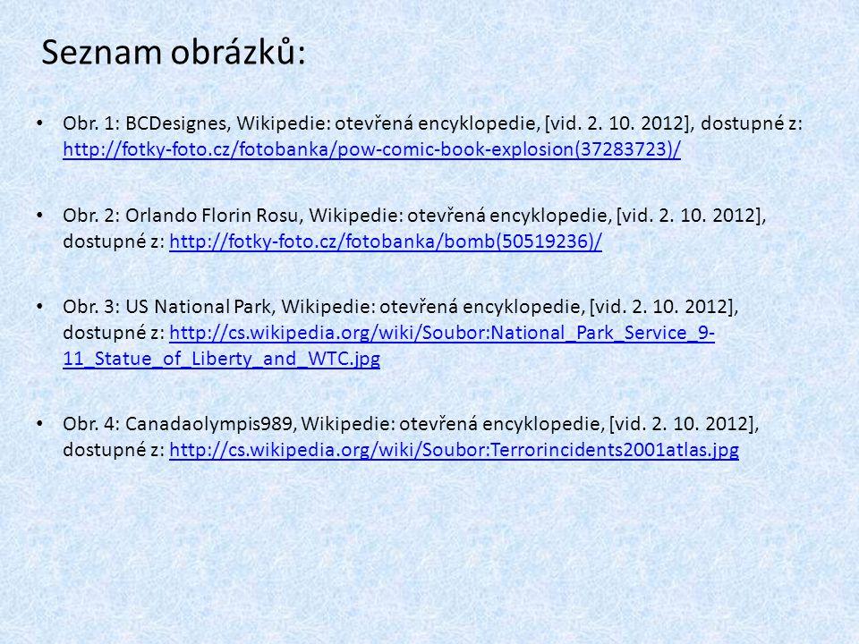 Seznam obrázků: Obr. 1: BCDesignes, Wikipedie: otevřená encyklopedie, [vid. 2. 10. 2012], dostupné z: http://fotky-foto.cz/fotobanka/pow-comic-book-ex