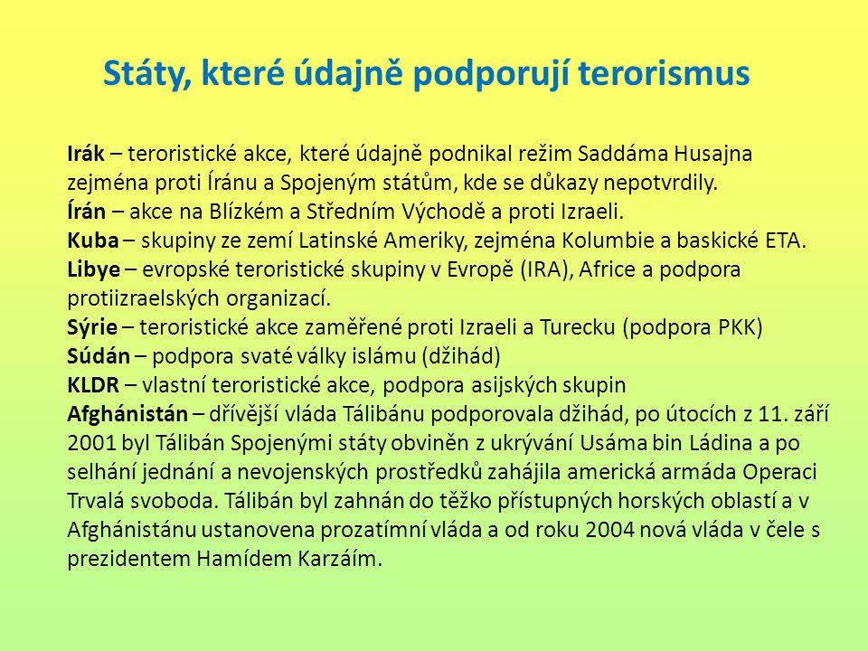 Obr. 3: Atlas mezinárodních teroristických incidentů ve světě