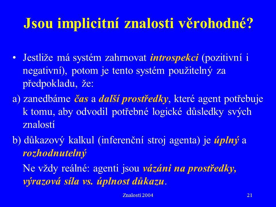 Znalosti 200421 Jsou implicitní znalosti věrohodné.