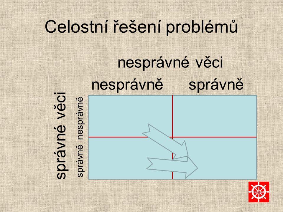 Celostní řešení problémů nesprávné věci nesprávněsprávně nesprávně správně správné věci