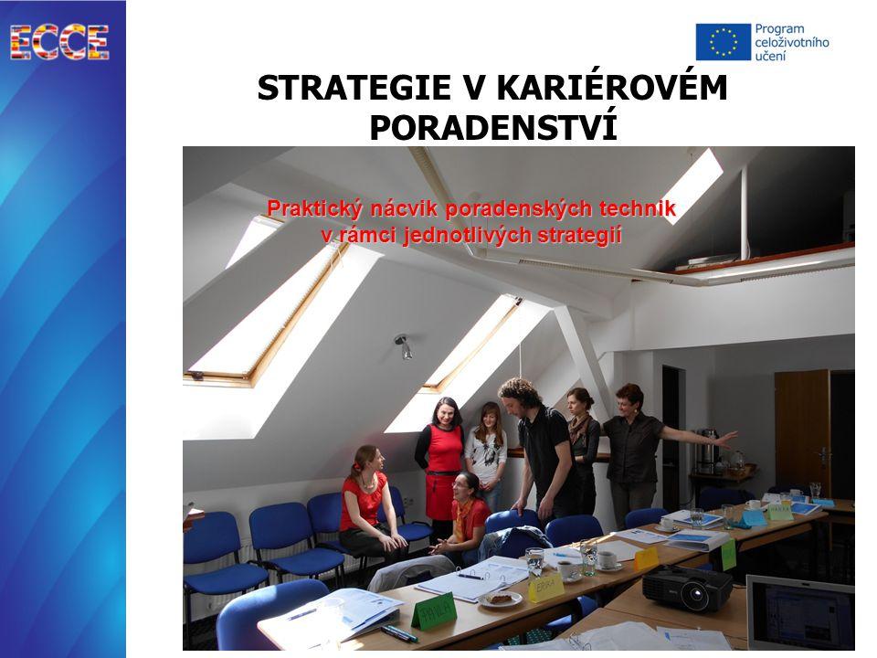 STRATEGIE V KARIÉROVÉM PORADENSTVÍ Praktický nácvik poradenských technik v rámci jednotlivých strategií