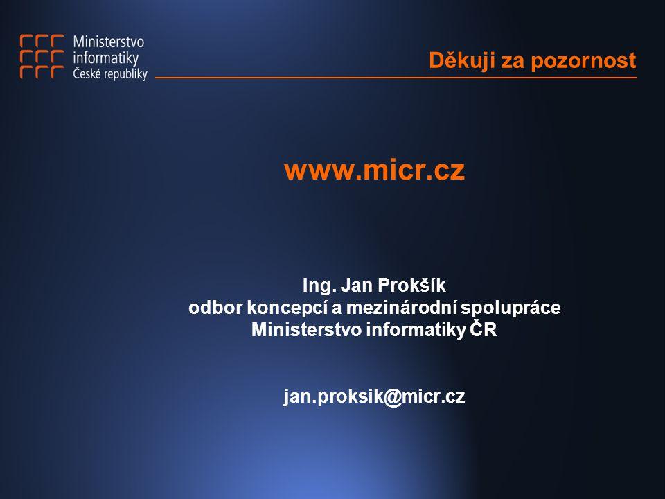 Děkuji za pozornost www.micr.cz Ing.