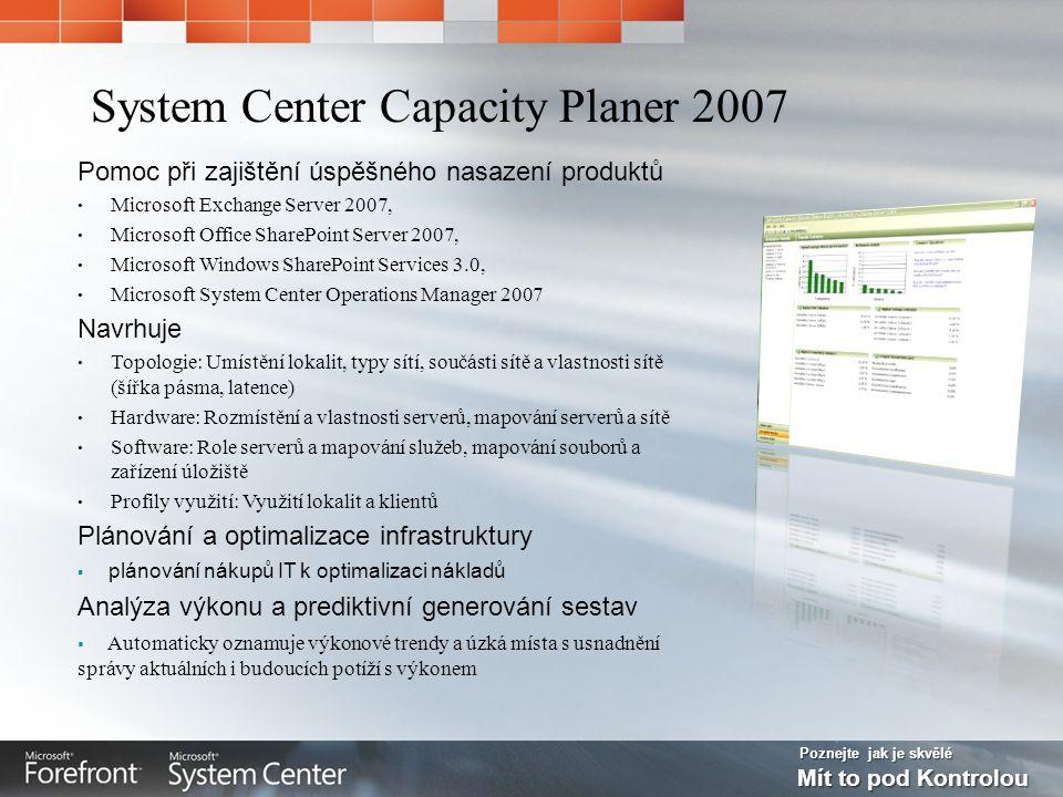 Poznejte jak je skvělé Mít to pod Kontrolou Pomoc při zajištění úspěšného nasazení produktů Microsoft Exchange Server 2007, Microsoft Office SharePoin